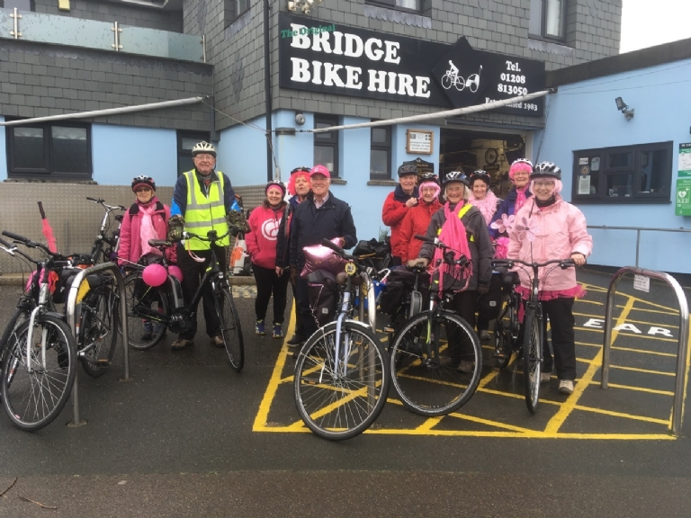 St Minver Cancer Research raise money at Bridge Bike hire