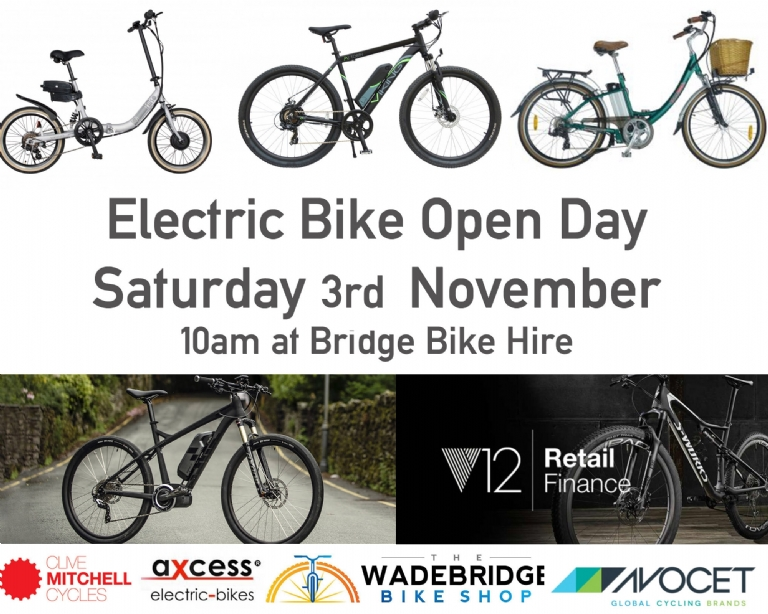 Electric Bike Open Day on the Camel Trail
