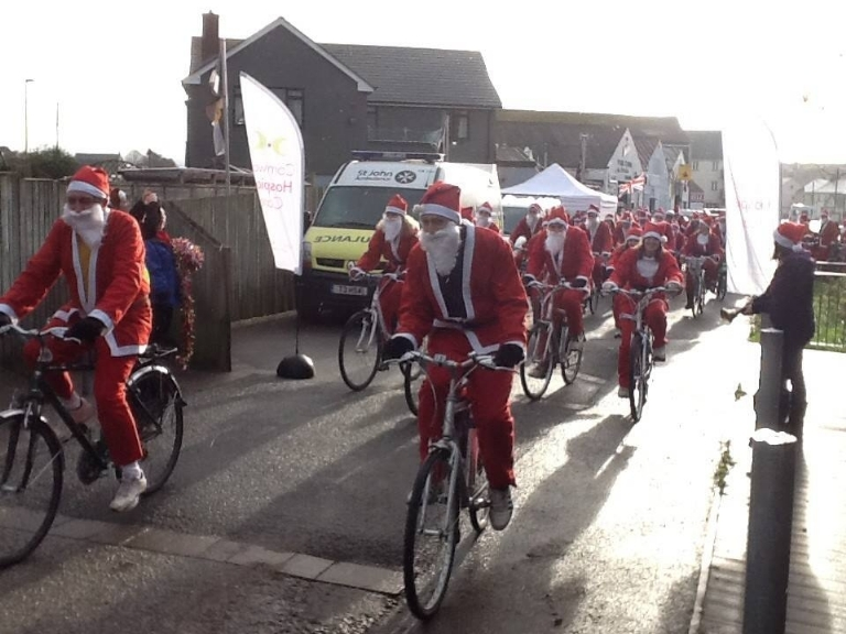 Annual Santa Ride for Cornwall Hospice Trust